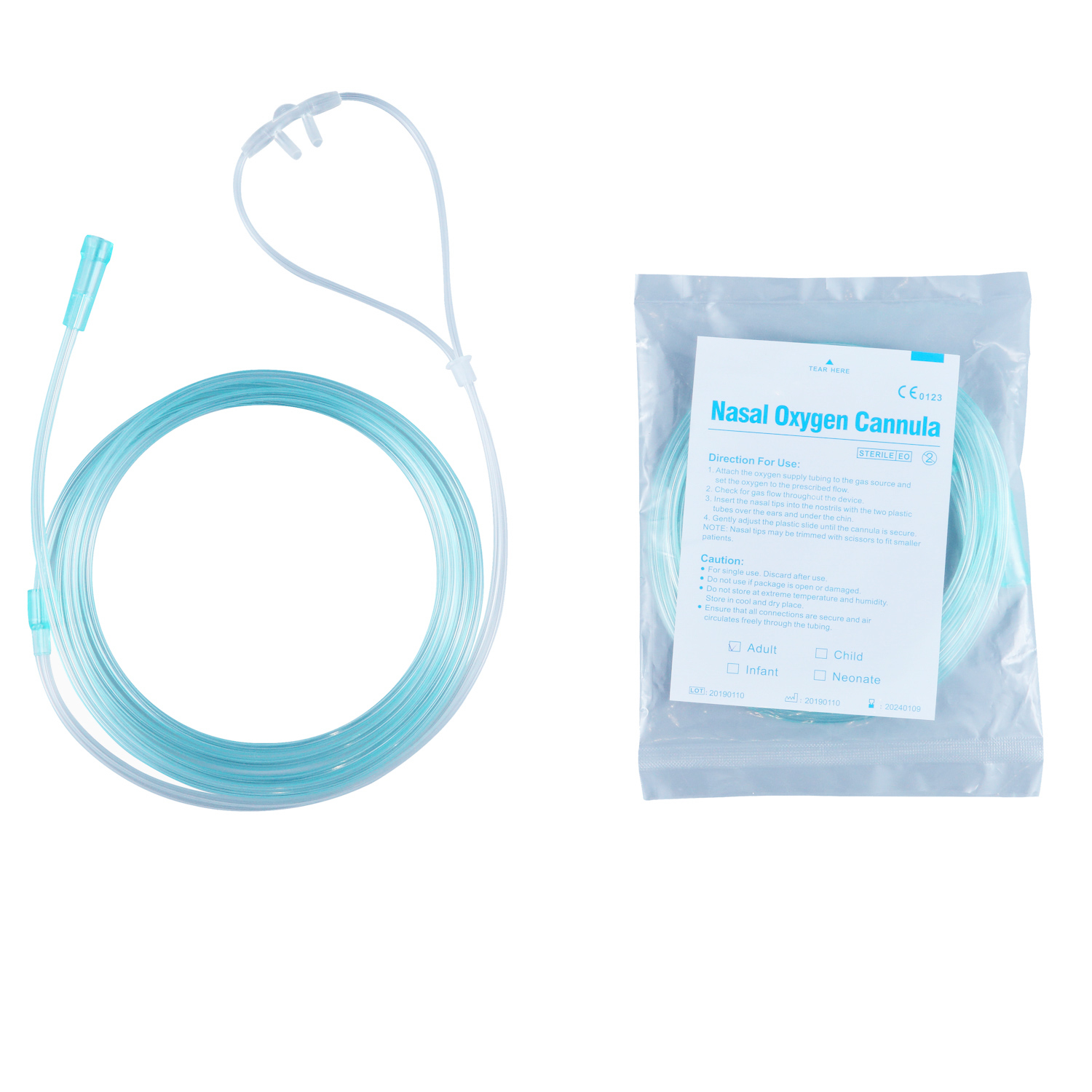 Disposable Nasal Oxygen Tube for Oxygen Therapy