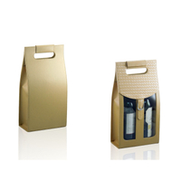 Wine Box Manufacturer PU leather luxury strip cotton wine bag