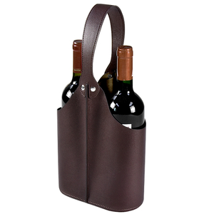 Wine Box Manufacturer PU leather luxury leather wine travel case