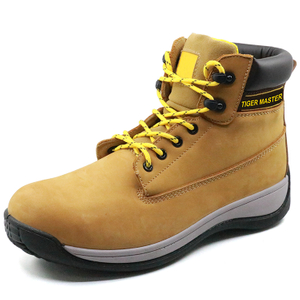 PU injection genuine leather anti static steel toe dewalt safety shoes