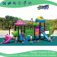 Outdoor Pink Vegetable Roof Children Slide Playground Equipment (HG-9302)