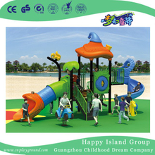 Outdoor Vegetable Roof Children Playground Equipment with Squirrel (HG-9402)