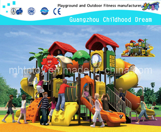 Most Popular Outdoor School Tree House Playground Equipment with Clear Tube Slide (HA-07601)