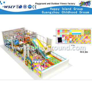 New Design Small Cartoon Indoor Playground For Kids Play (H13-60006)