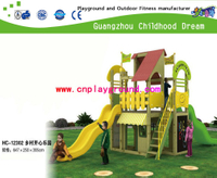 China Guangzhou outdoor playhouse .factory provides discount villeage house playground , small game house equipment, cheaper outdoor combination playground training equipment