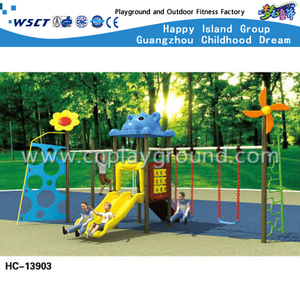 Outdoor Children Slide and Swing Combination Playground on Stock (HC-13901)