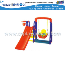 Small Size Plastic Toys Orange Slide Playground with Swing Equipment (M11-09403)