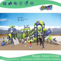 Outdoor Cartoon Blue and Green Airship Galvanized Steel Playground Equipment for Children (HG-10302)