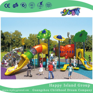 Outdoor Middle Children Sea Breeze Galvanized Steel Playground Equipment with Climbing Wall (HG-10003)