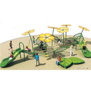 Outdoor Yellow Flowers Climbing Combination Playground For School (HHK-6501)