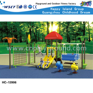 Outdoor Simple Swing Combination Playground With Climbing Equipment (HC-13906)