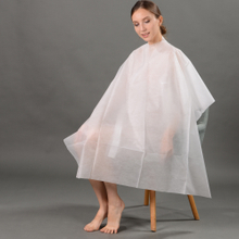 Disposable Nonwoven Cutting Cape with Tie-on