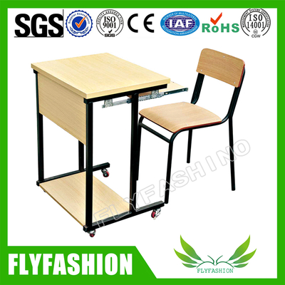 Wooden New Style Student Desk And Chair(SF-92S)