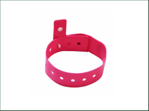 Custom Logo Print PVC Adjustable Wristband Disposable Rfid Wristband for Events Hospital