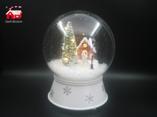 Christmas Musical Glass Ball with Twisting Tree inside for Decoration And Gift