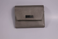 Grey Shinny Pu leather travel jewelry bags and pouches