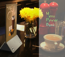 Tragbarer Menühalter Werbung Display Power Bank