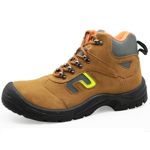 Slip Resistant Suede Leather Steel Toe Indoor Working Safety Shoes Work