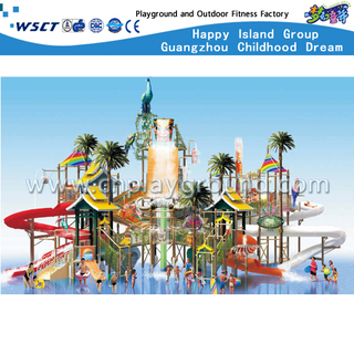 Outdoor Recreational Water Slide Equipment Aqua House(A-06301)