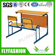 Latest Wood Detachable Double School Student Desk and Chair (SF-35D)