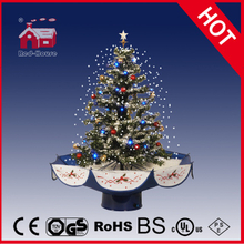 (18030U075-BS) 2016 Snowing Christmas Tree with Umbrella Base