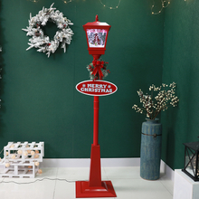 Wholesale Navidad Animated Christmas Floor Street Lamp Post Light with Blowing Snow