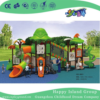 New Outdoor Green Roof Outer Space Galvanized Steel Playground for Children (HG-9601)