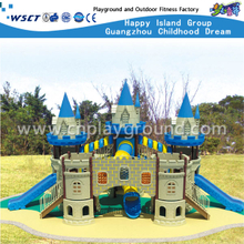 China Guangzhou Promotion Large & High Blue Children Castle Galvanized Steel Playground(HA-09101)