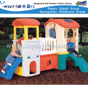 Outdoor Small Lovely Slide Playhouse Playground with Toddler Plastic Toys (M11-09301)