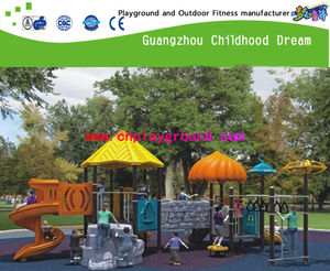 Outdoor Galvanized Steel Adventure Sevilla Playground with Plastic Slide Equipment (H13-10037)