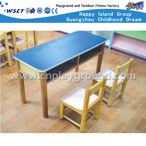 School Wooden Study Desk and Chair Set with Drawer (M11-07103)