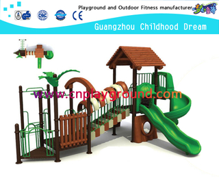 Hot Sale Primitive Roof Outdoor School Tree House Playground Equipment on Stock (M11-02001)