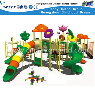 Large Outdoor Colorful Tube Children Slide Cartoon Animal Galvanized Steel Playground (M11-00702)
