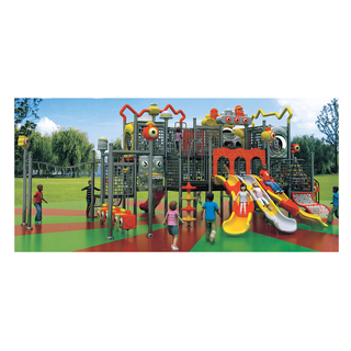 Outdoor Bright Color Robot Galvanized Steel Slide Playground For Kindergarten (HJ-11002)