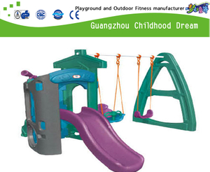 Indoor Small Plastic Swing And Slide Combination Set (M11-9102)