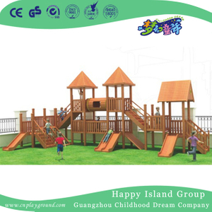 Children School Full Wooden Playhouse Playground Equipment (1908502)
