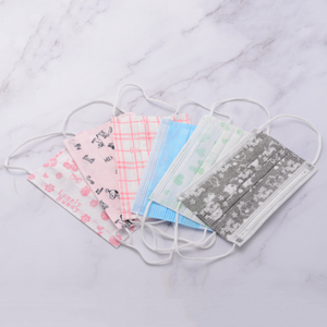 Disposable Non Woven Printed 3 Ply Ear-loop Face Mask