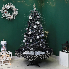 1.9m New Big Black Christmas Tree with Snow for Christmas Indoor Decoration