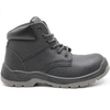 Non slip leather upper steel toe construction site work shoes for men