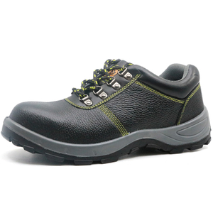 China black leather deltaplus sole anti static steel toe men work shoes