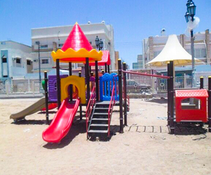 Playground equipment project in Saudi-Arabia-Jeddah