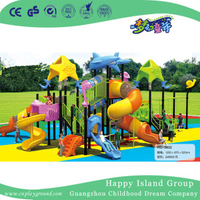 Ocean Animal Children Galvanized Steel Playground with Double Layer Cylindrical Slide (HG-9802)