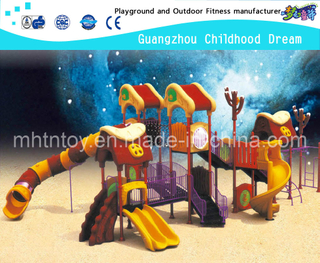 Outdoor Toddler Castle Galvanized Steel Playground With Plastic Slide Equipment(HA-08501)