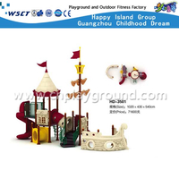 Outdoor Children Favorite Pirate Ship Galvanized Steel Playground Equipment(HD-3501)