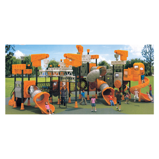 Outdoor Orange Children Galvanized Steel Playground with Slide (HJ-11302)