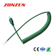 CCP-K IEC Color Coiled Cords Thermocouple With Molded Miniature Male Connector