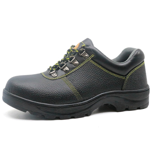 Tiger master brand black leather rubber sole cheap safety work shoes