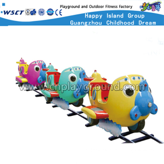 Mini Cartoon Plane Design Children Electric Railway Train (HD-10502)