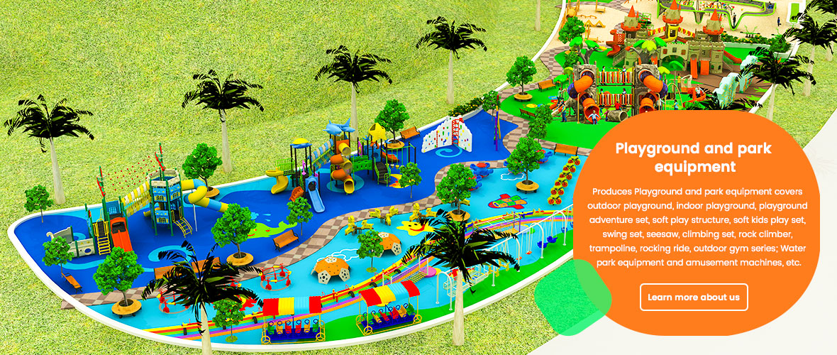 Outdoor children amusement playground equipment