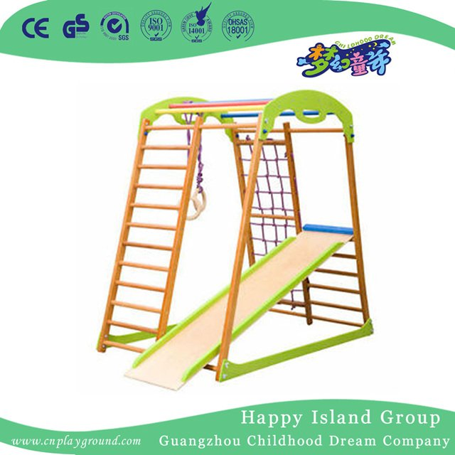 Mini Kids Climbing Play Structures Playground Equipment with Slide ...